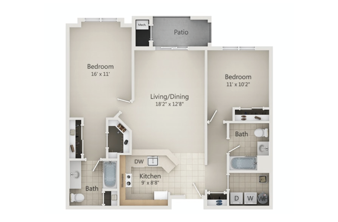 River Place at Rahway 1 Bedroom