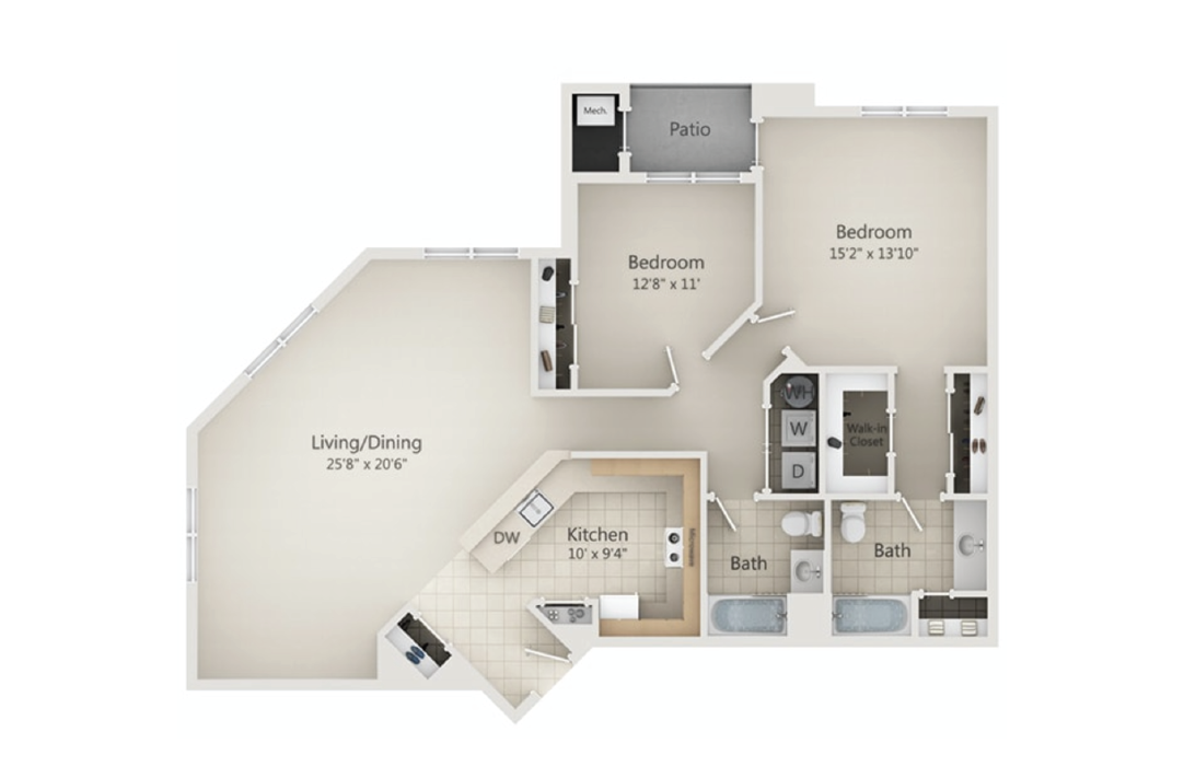 River place at Rahway 2 Bedroom